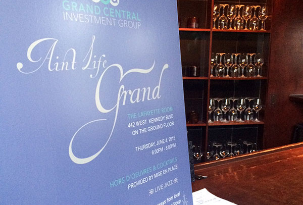 Ain't Life Grand Company Launch Party June 4, 2015 The Lafayette Room in Grand Central Place